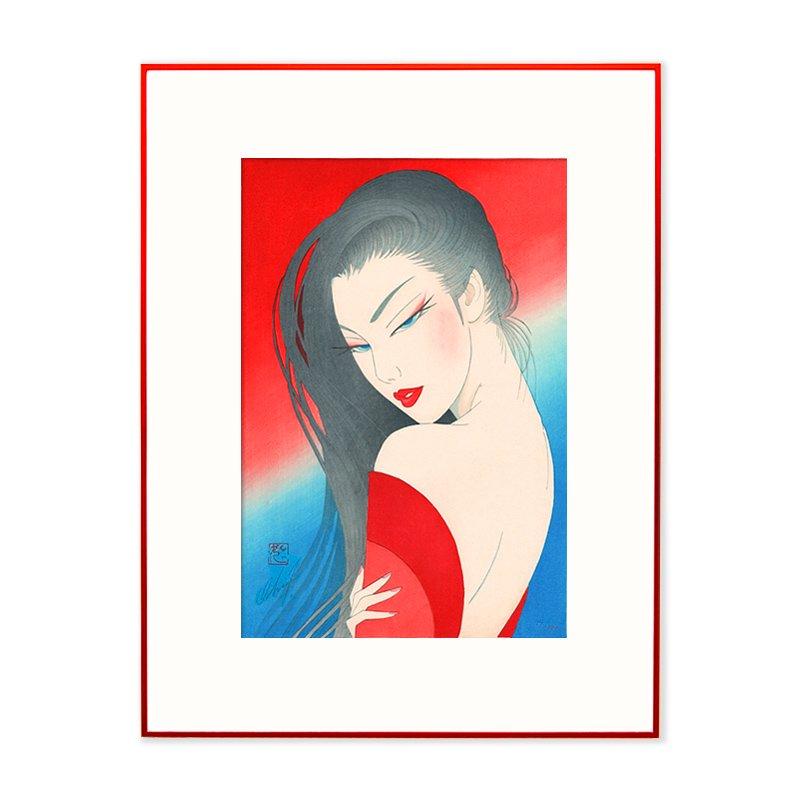 木版画 鶴田一郎 Japan Beauty「彩錦」