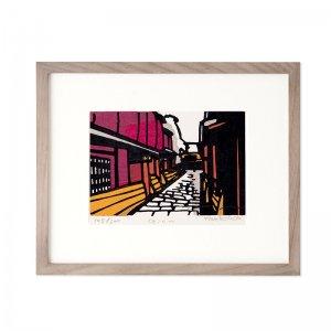 木版画 竹中健司「Gion」