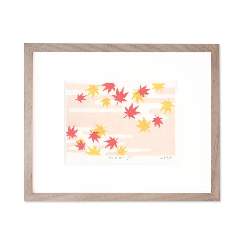 木版画 加藤光穂「京都時間 momiji」