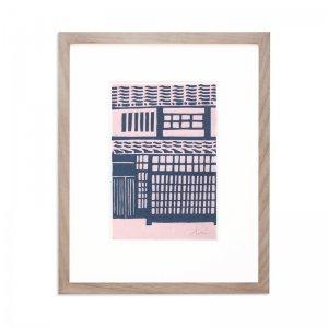木版画 加藤光穂「京都時間 kyomachiya」