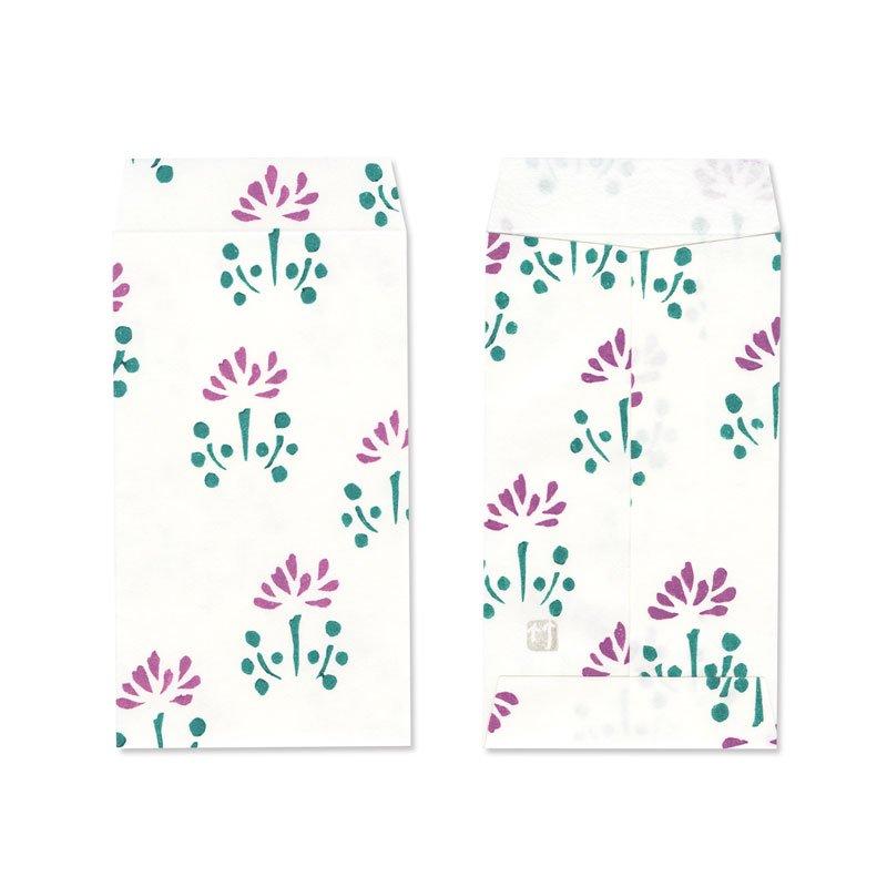 ポチ袋三つ折サイズ  蓮華更紗