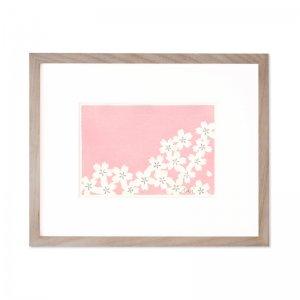 木版画 加藤光穂「京都時間 sakura」
