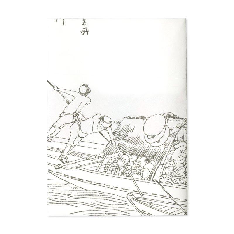 ブックカバー 歌川広重「京都名所之内 淀川」