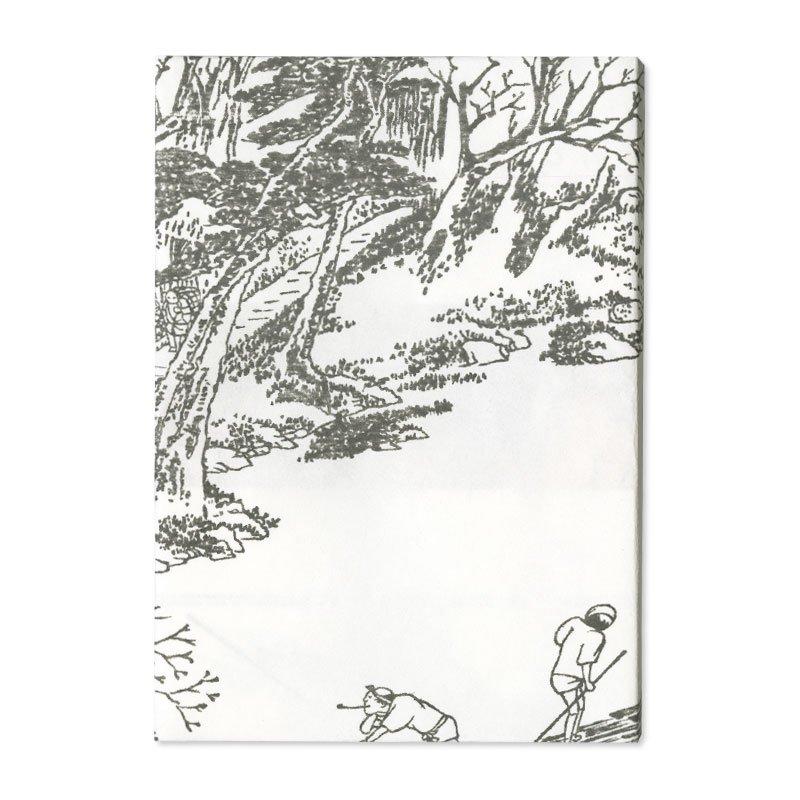 ブックカバー 歌川広重「京都名所之内 あらし山満花」
