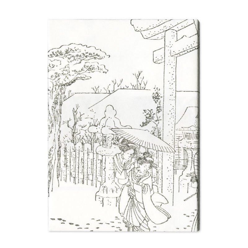ブックカバー 歌川広重「京都名所之内 祇園社雪中」