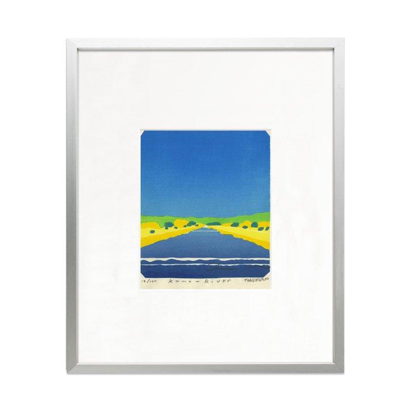 木版画 竹中健司「Kamo-River」