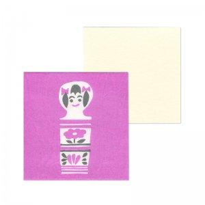 ポチ袋二つ折り 郷土玩具シリーズ 小芥子(1枚入・カード付)