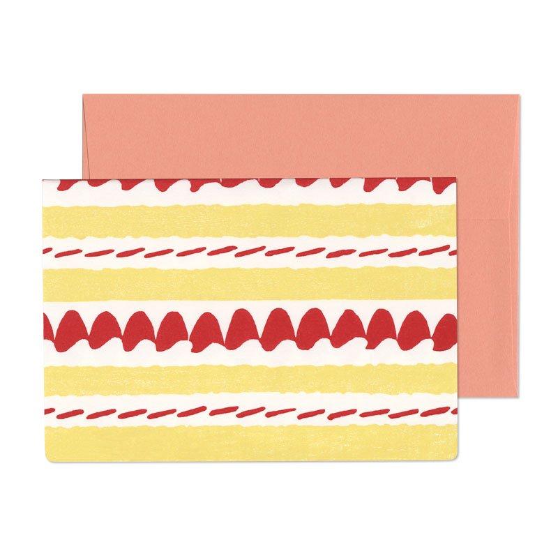 グリーティングカード ケーキ