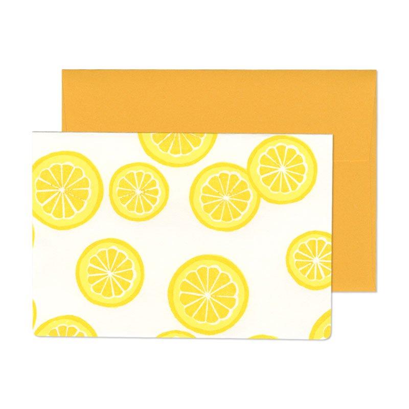 グリーティングカード 柚子模様