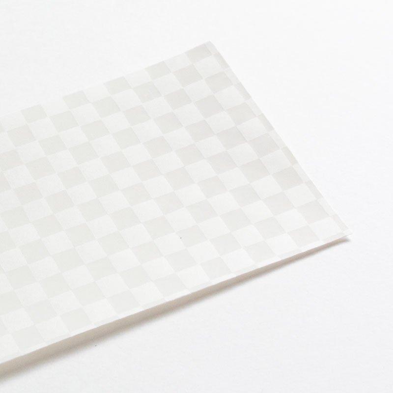 白い木版一筆箋 石畳(便箋6枚・封筒3枚セット)