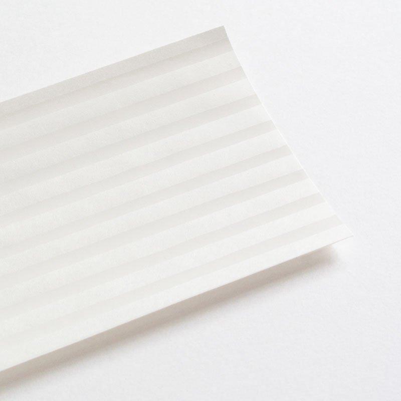 白い木版一筆箋 縞(便箋6枚・封筒3枚セット)