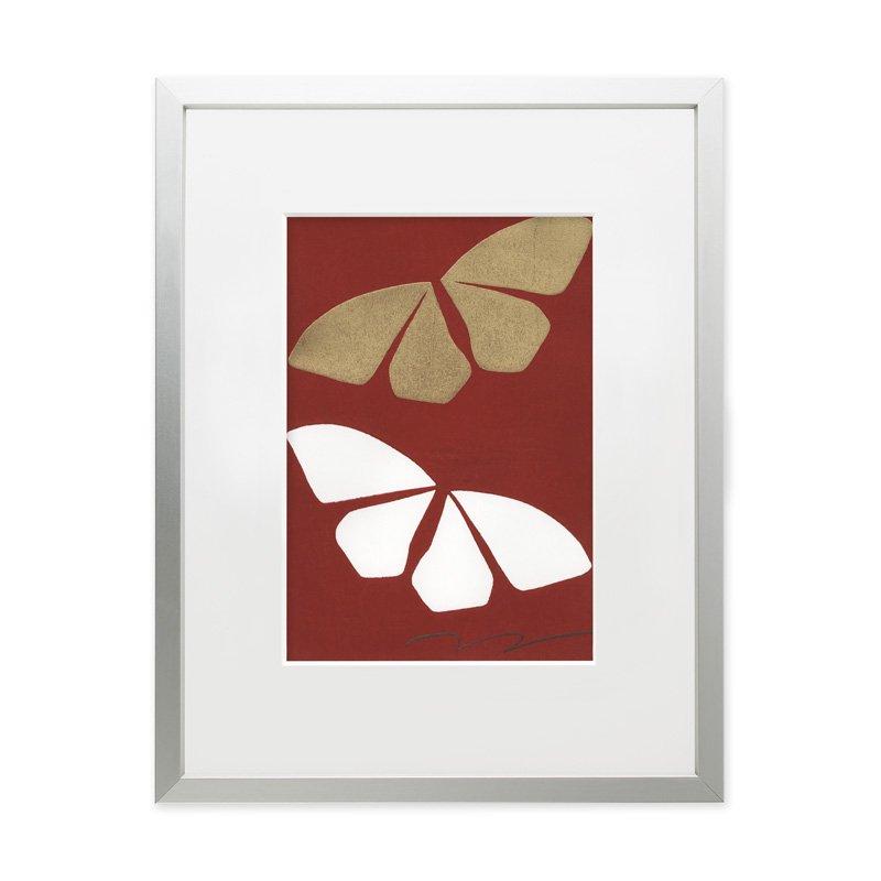 木版画 竹中健司「Butterfly Effect A(紅)」
