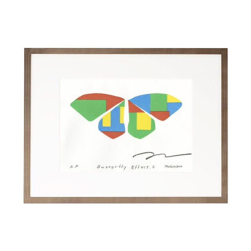 木版画 竹中健司「Butterfly Effect C」