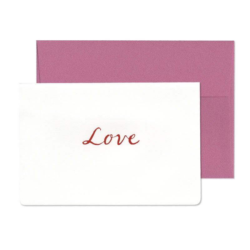 グリーティングカード 贈ることば LOVE