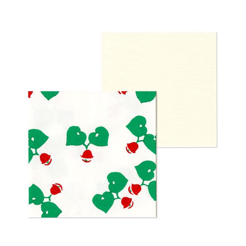 ポチ袋二つ折り 葵の音(1枚入・カード付)