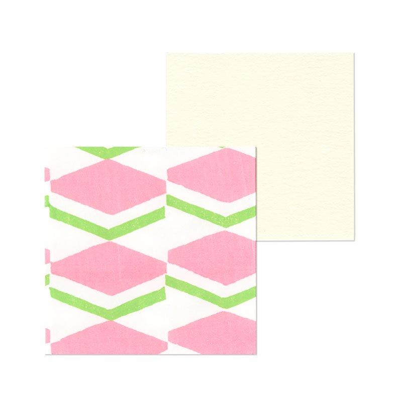 ポチ袋二つ折り 菱餅(1枚入・カード付)