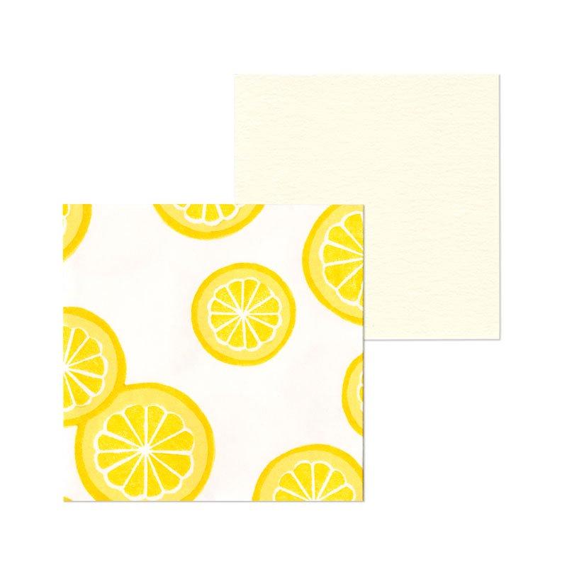 ポチ袋二つ折り 柚子模様(1枚入・カード付)