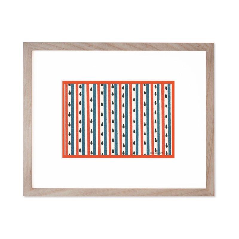 木版画 原田裕子「季節の木版画 すいかストライプ」
