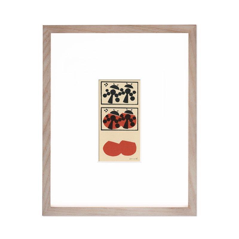 木版画 原田裕子「木版採集シリーズ テントウムシ」