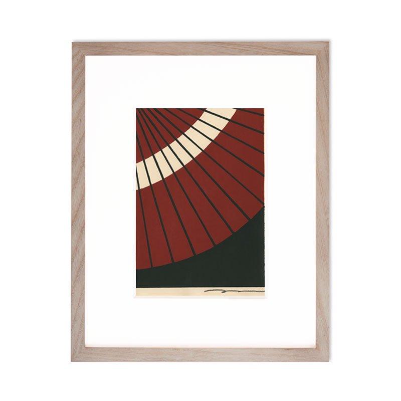 木版画 竹中健司「和傘」