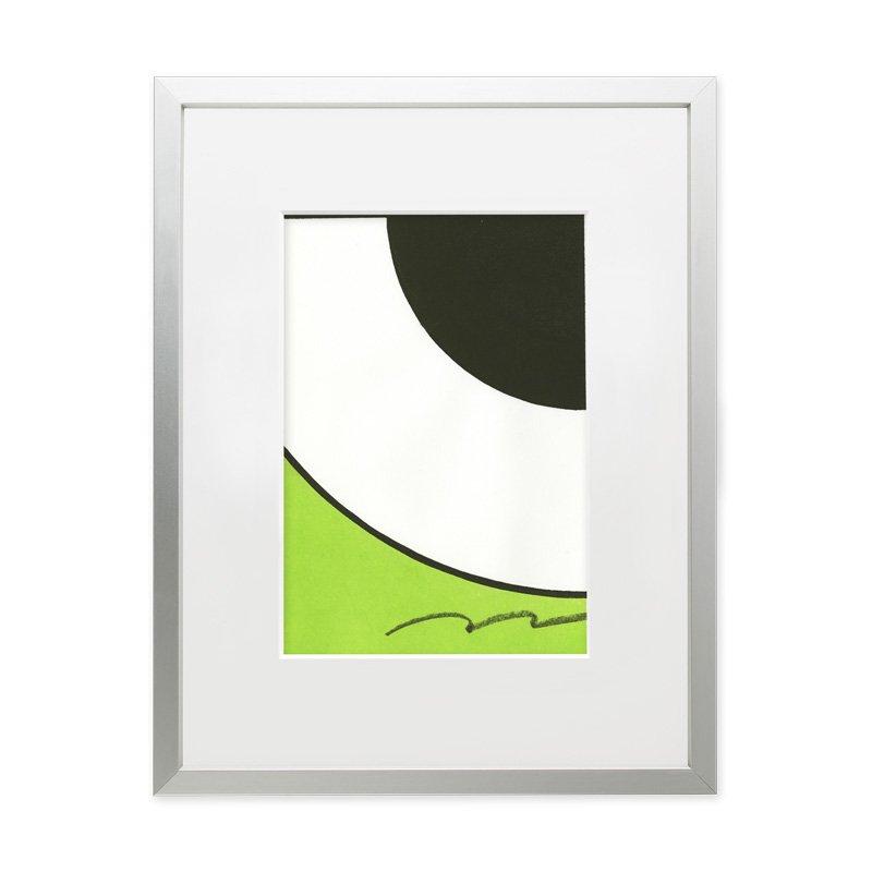 木版画 竹中健司「メジロ」