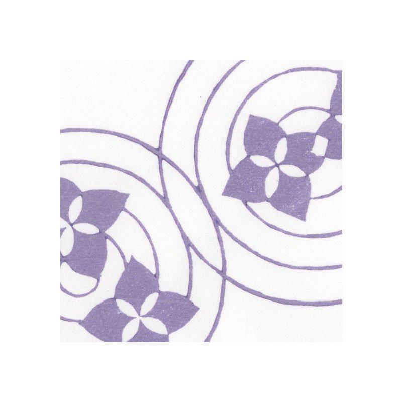 木版和紙 紫陽花