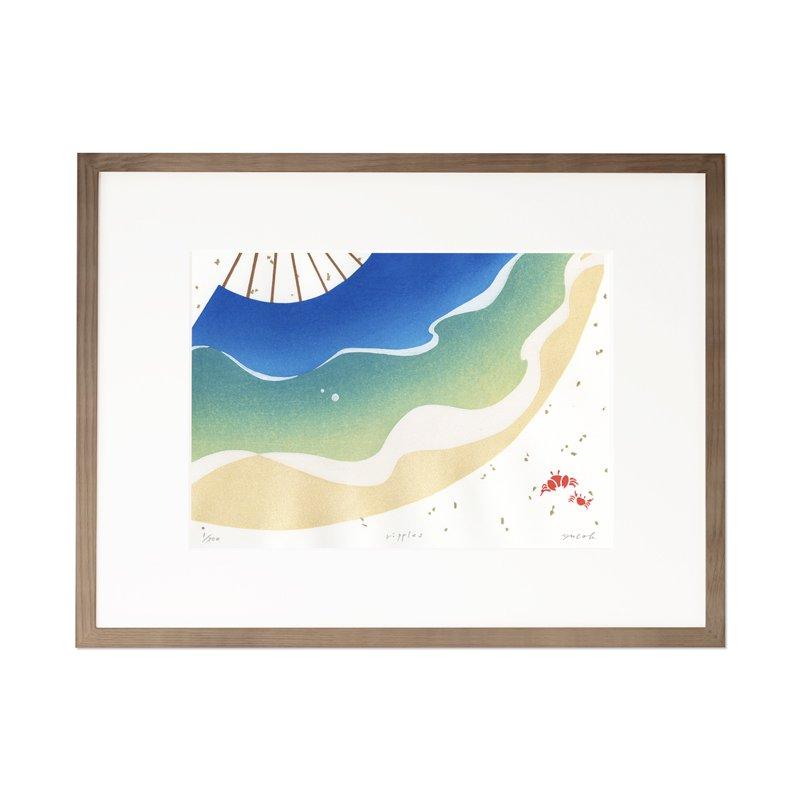 木版画 原田裕子「ripples」