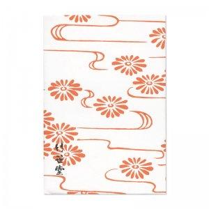 ブックカバー 流水菊