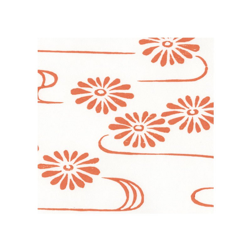 木版和紙 流水菊