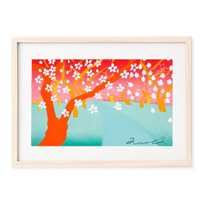 木版画 竹中健司「Kitano hakubai」