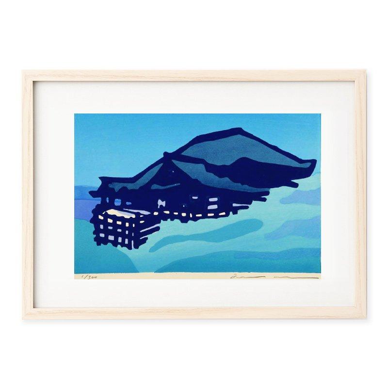 木版画 竹中健司「kiyomizu blue」