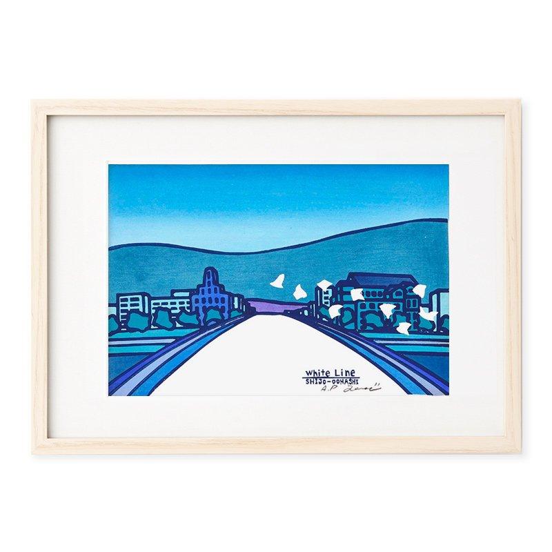 木版画 竹中健司「四条大橋」