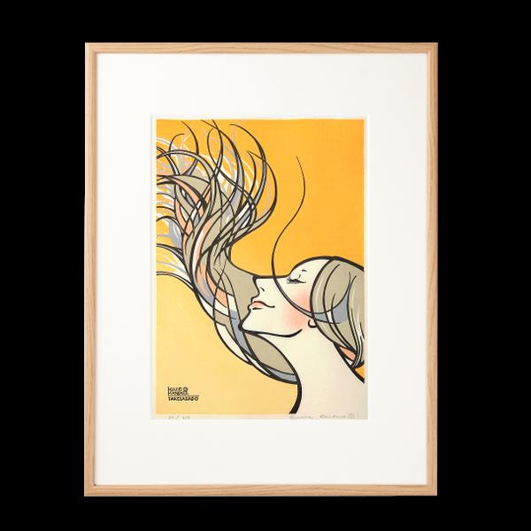 木版画 カンバラクニエ「IMAUKIYOE1」