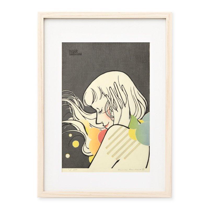 木版画 カンバラクニエ「IMAUKIYOE4」