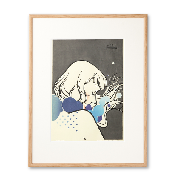 木版画 カンバラクニエ「IMAUKIYOE5」