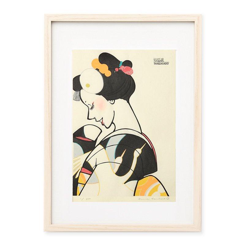 木版画 カンバラクニエ「IMAUKIYOE6」
