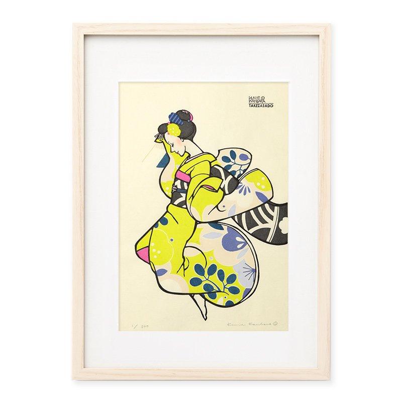 木版画 カンバラクニエ「IMAUKIYOE7」
