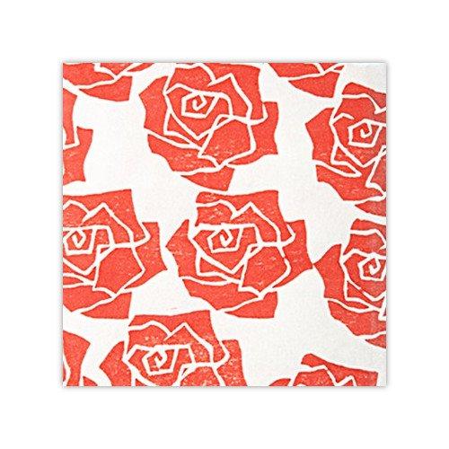 木版和紙 薔薇模様