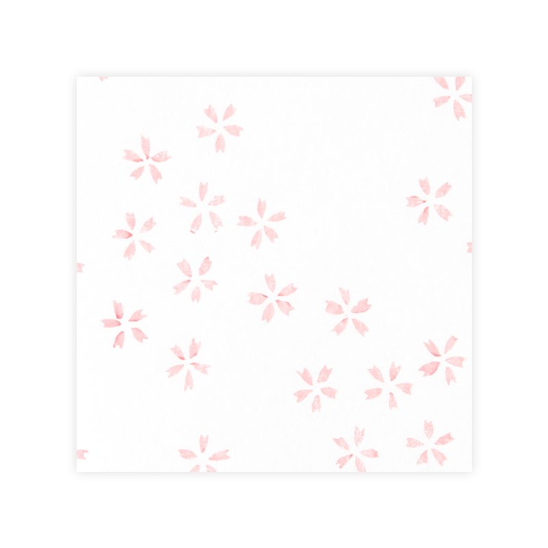 木版和紙 桜の舞