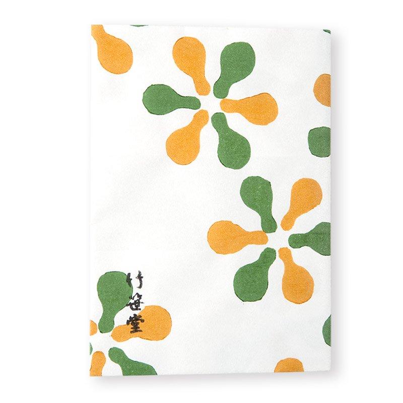 ブックカバー 瓢箪花