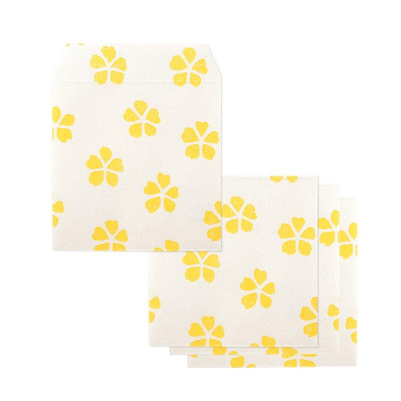ポチ袋二つ折り 花模様