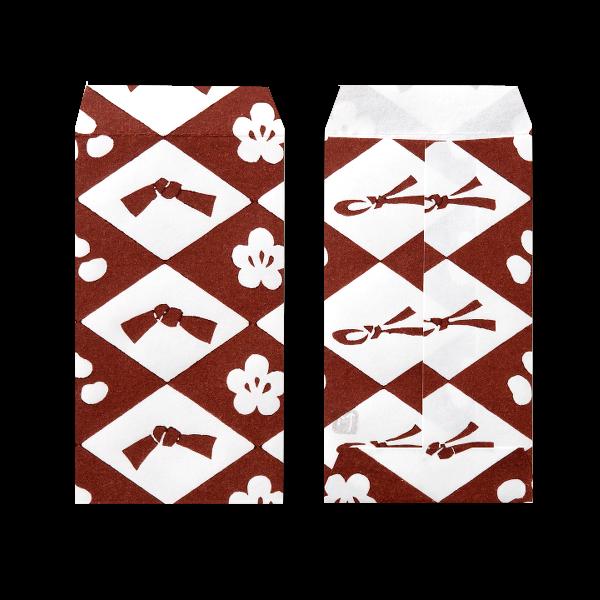 ポチ袋三つ折 福茶