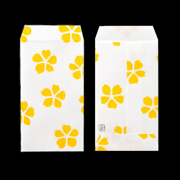 ポチ袋三つ折 花模様