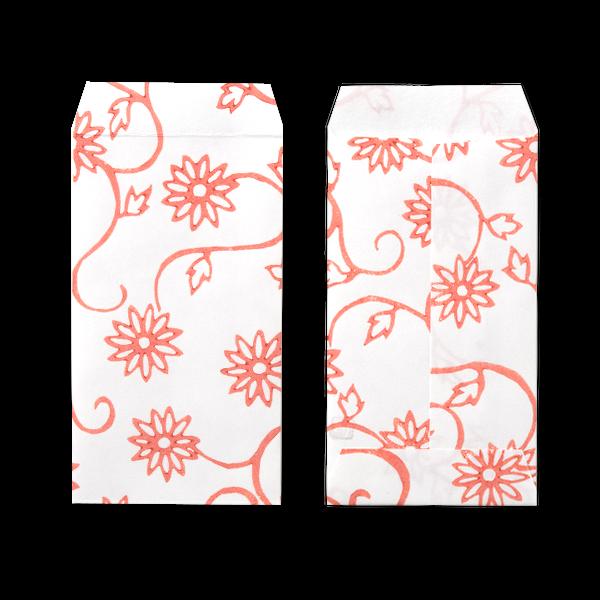 ポチ袋三つ折 菊唐草