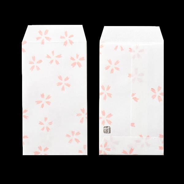 ポチ袋三つ折 桜の舞