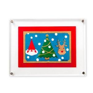 木版画 原田裕子「季節の木版画 クリスマス」