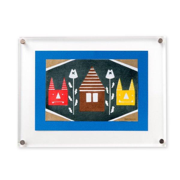 木版画 原田裕子「季節の木版画 節分」