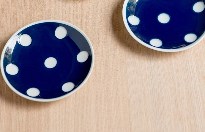 水玉模様がかわいい竹笹堂の2枚セット