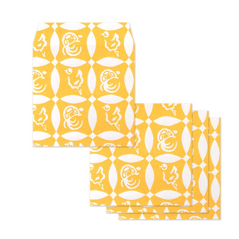 ポチ袋二つ折り 鶴亀七宝(全2色)