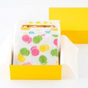 京の蚊帳生地ふきん5枚 BOX入りギフトセット